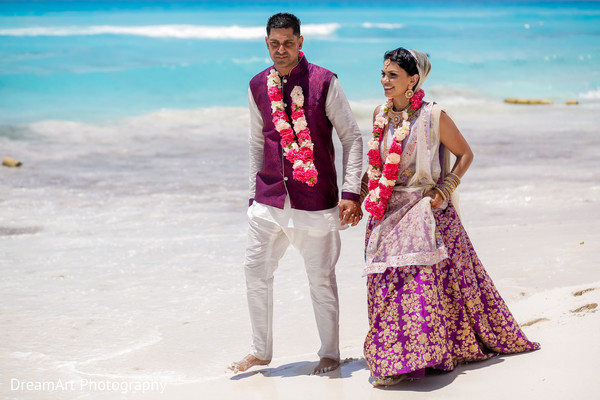purple sari,gold sari,indian wedding matching outfits