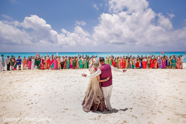 indian wedding ceremony,indian wedding portraits,indian wedding by the ocean