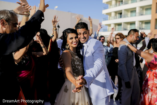 Make some room in the dancefloor for this beautiful Indian wedding couple in Cancun, MX Indian Wedding by DreamArt Photography