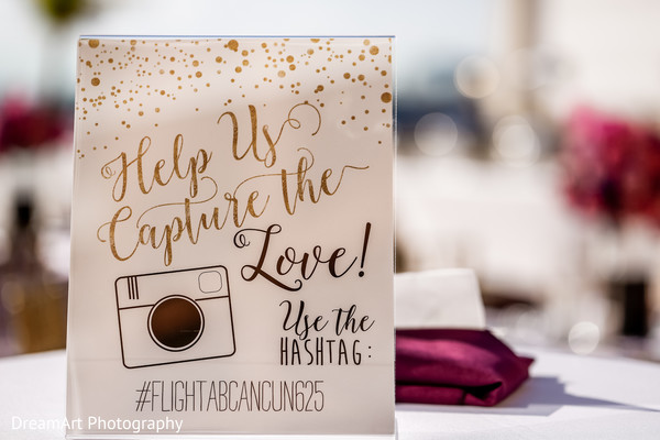 Capture the love with Instagram! in Cancun, MX Indian Wedding by DreamArt Photography