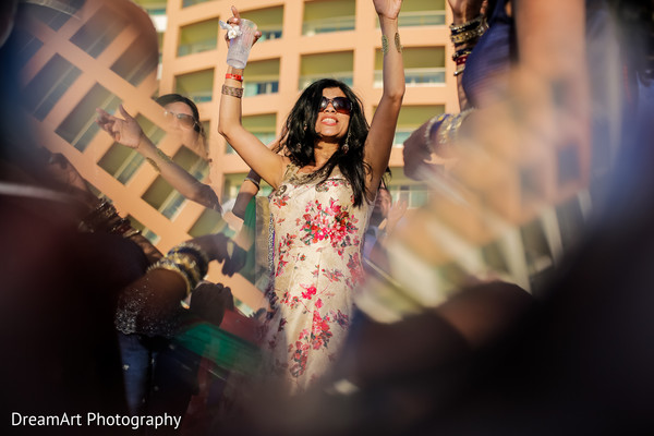 Rocking it at this Indian wedding reception in Cancun, MX Indian Wedding by DreamArt Photography