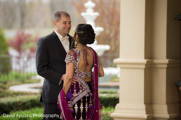Bride and Groom Portrait in Prospect, CT Indian Fusion Wedding by David Apuzzo Photography