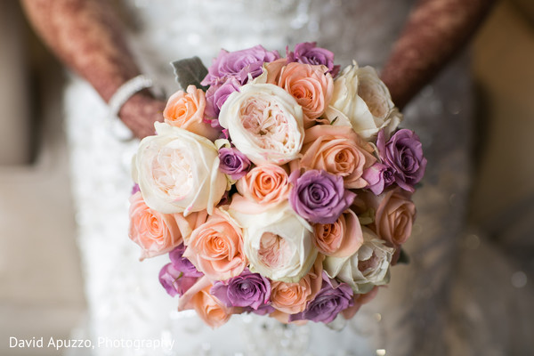 Indian Bridal Bouquet in Prospect, CT Indian Fusion Wedding by David Apuzzo Photography