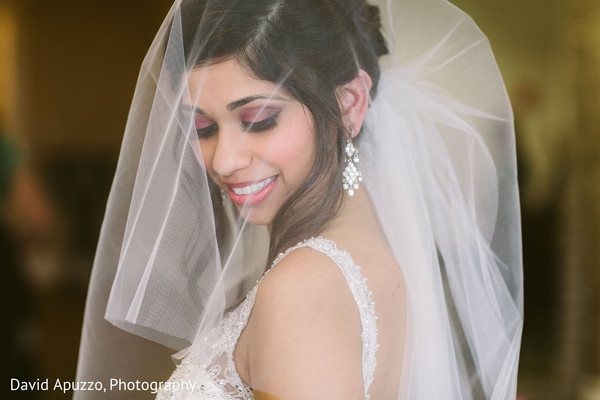 Indian Bridal Portrait in Prospect, CT Indian Fusion Wedding by David Apuzzo Photography