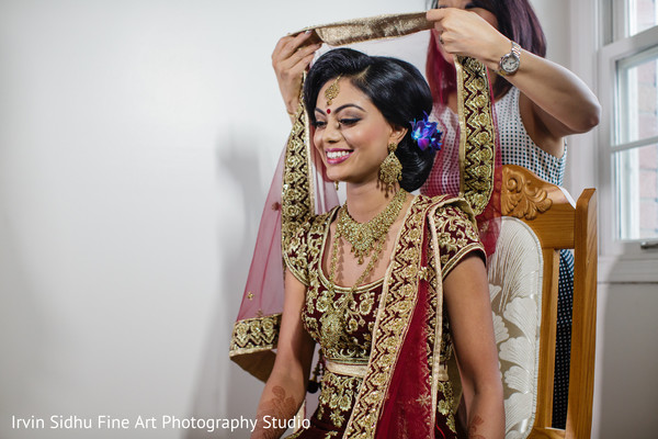 Beautiful Indian bride in ghunghat. in Brampton, ON Indian Wedding by Irvin Sidhu Fine Art Photography Studio