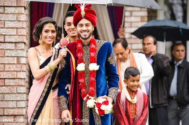Check out this handsome raja ready on its way to the baraat procession. in Brampton, ON Indian Wedding by Irvin Sidhu Fine Art Photography Studio