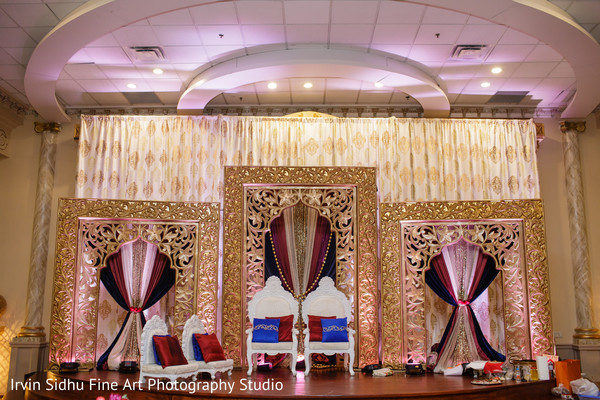 Stunning draped mandap stage. in Brampton, ON Indian Wedding by Irvin Sidhu Fine Art Photography Studio