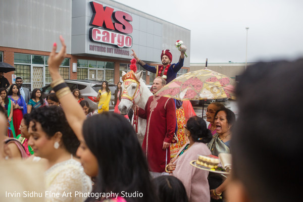 Traditional indian baraat ceremony entrance. in Brampton, ON Indian Wedding by Irvin Sidhu Fine Art Photography Studio