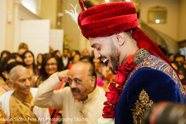 Happy Indian groom in his baraat in Brampton, ON Indian Wedding by Irvin Sidhu Fine Art Photography Studio