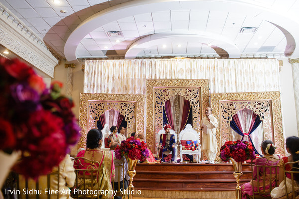 Beautiful setting for this Indian wedding ceremony in Brampton, ON Indian Wedding by Irvin Sidhu Fine Art Photography Studio