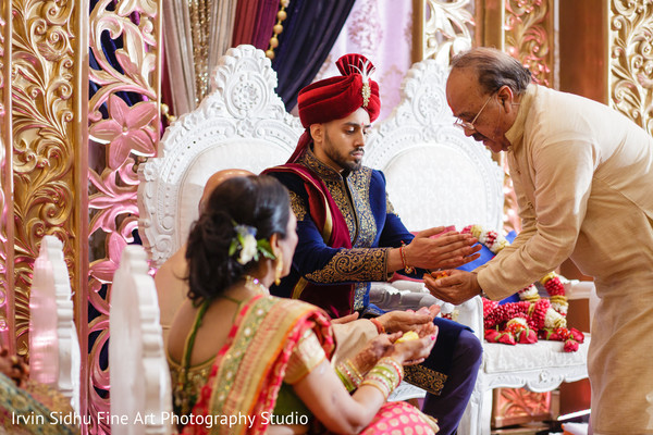 Indian wedding traditions during ceremony in Brampton, ON Indian Wedding by Irvin Sidhu Fine Art Photography Studio