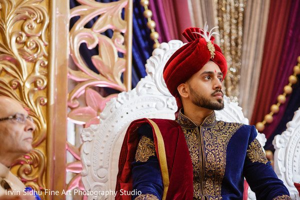 Indian groom in his wedding ceremony in Brampton, ON Indian Wedding by Irvin Sidhu Fine Art Photography Studio