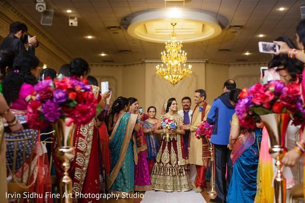 Maharani getting ready to walk down the aisle in Brampton, ON Indian Wedding by Irvin Sidhu Fine Art Photography Studio