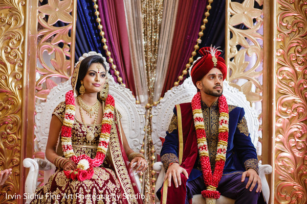 Beautiful shot of indian couple in their wedding ceremony in Brampton, ON Indian Wedding by Irvin Sidhu Fine Art Photography Studio