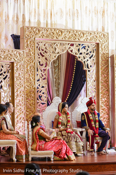 Beautiful stage for this Indian wedding ceremony in Brampton, ON Indian Wedding by Irvin Sidhu Fine Art Photography Studio
