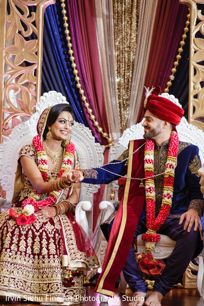 Beautiful couple in their indian wedding ceremony in Brampton, ON Indian Wedding by Irvin Sidhu Fine Art Photography Studio