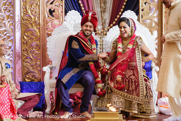 See this Indian couple enjoying their wedding ceremony in Brampton, ON Indian Wedding by Irvin Sidhu Fine Art Photography Studio