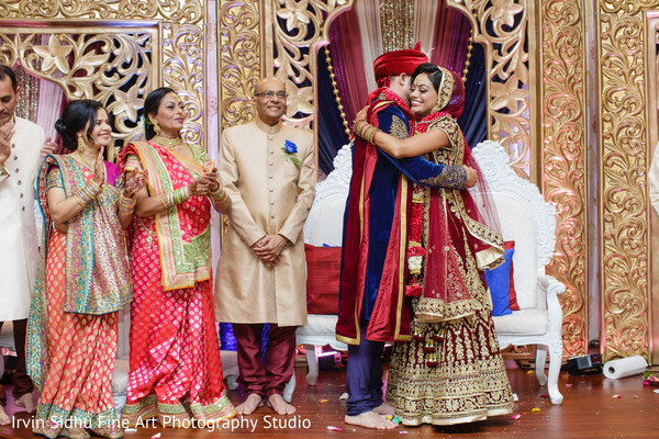 Indian couple in their wedding ceremony in Brampton, ON Indian Wedding by Irvin Sidhu Fine Art Photography Studio