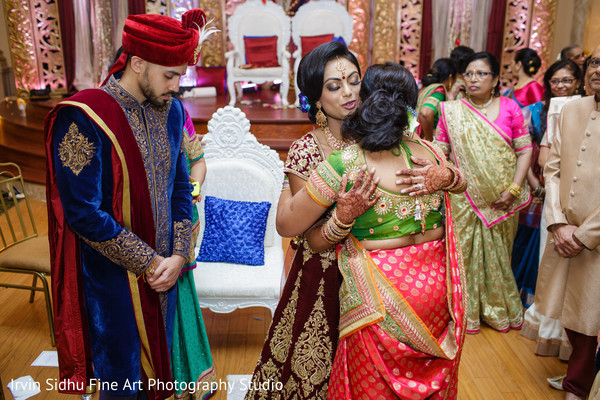 Family congratulating maharani in Brampton, ON Indian Wedding by Irvin Sidhu Fine Art Photography Studio