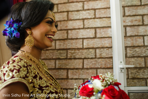 Lovely maharani with flawless makeup in Brampton, ON Indian Wedding by Irvin Sidhu Fine Art Photography Studio
