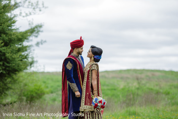 Lovely portrait of Indian couple in Brampton, ON Indian Wedding by Irvin Sidhu Fine Art Photography Studio