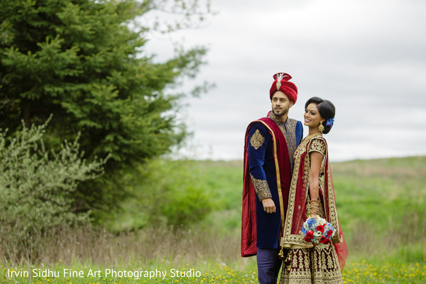 Beautiful portrait of Indian couple in Brampton, ON Indian Wedding by Irvin Sidhu Fine Art Photography Studio