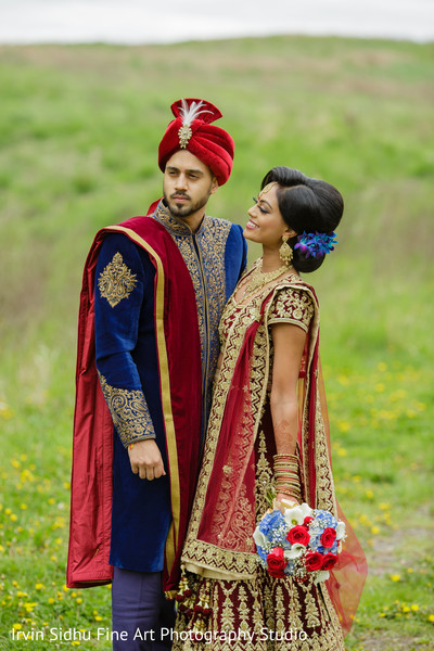 Beautiful indian couple shot in the daylight in Brampton, ON Indian Wedding by Irvin Sidhu Fine Art Photography Studio