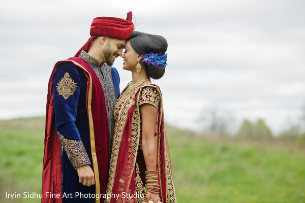 Indian couple portrait in Brampton, ON Indian Wedding by Irvin Sidhu Fine Art Photography Studio