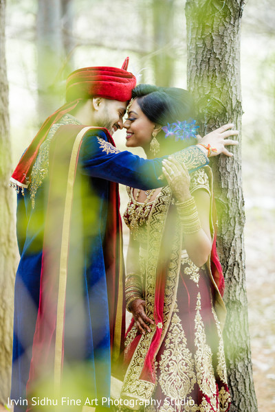 Lovely Indian couple portrait in Brampton, ON Indian Wedding by Irvin Sidhu Fine Art Photography Studio