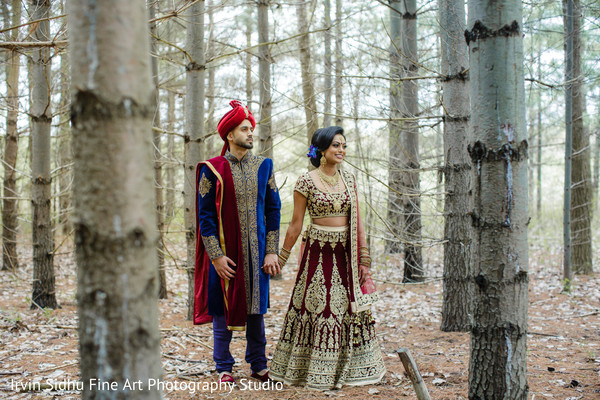 Indian couple showing off their love in Brampton, ON Indian Wedding by Irvin Sidhu Fine Art Photography Studio