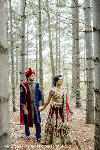 Maharani leading her raja in Brampton, ON Indian Wedding by Irvin Sidhu Fine Art Photography Studio