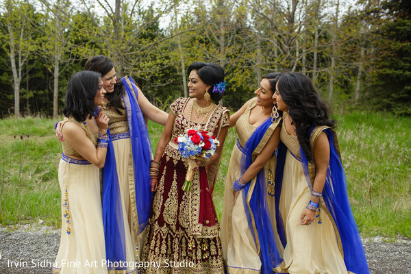 Maharani having a good time with her bridesmaids in Brampton, ON Indian Wedding by Irvin Sidhu Fine Art Photography Studio