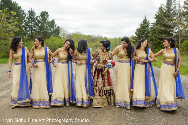Maharani with her bridesmaids in Brampton, ON Indian Wedding by Irvin Sidhu Fine Art Photography Studio