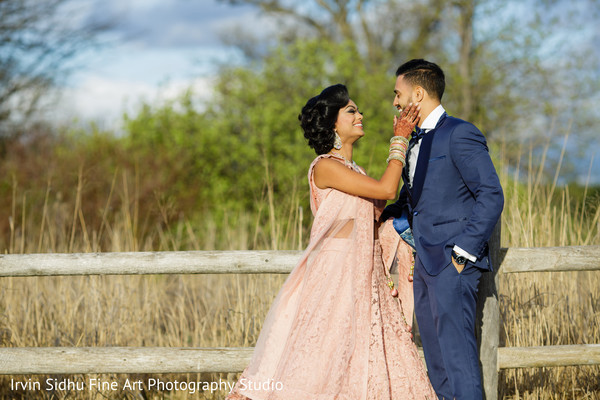 Join this perfect Indian couple during their pre-wedding reception photoshoot in Brampton, ON Indian Wedding by Irvin Sidhu Fine Art Photography Studio