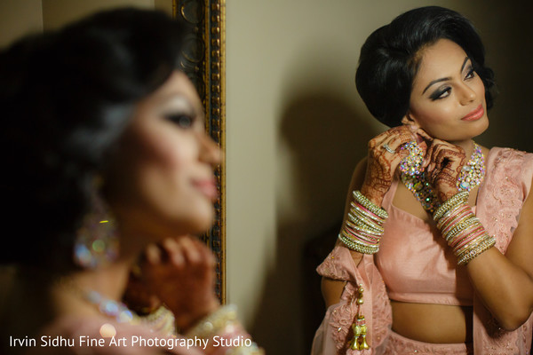 Beautiful Indian Bride before her Wedding Ceremony in Brampton, ON Indian Wedding by Irvin Sidhu Fine Art Photography Studio