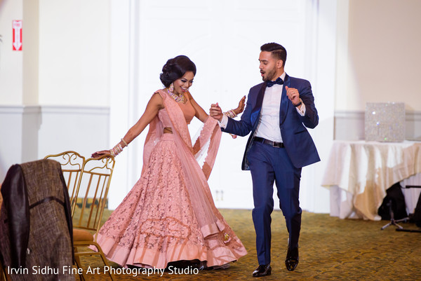 Lovely Indian Couple dancing at their Wedding Reception in Brampton, ON Indian Wedding by Irvin Sidhu Fine Art Photography Studio