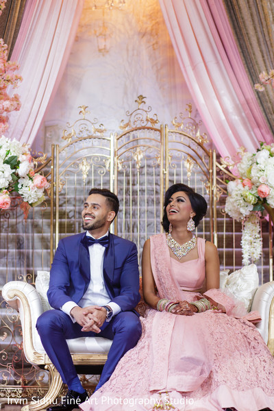 Beautiful Couple at their Wedding Reception in Brampton, ON Indian Wedding by Irvin Sidhu Fine Art Photography Studio