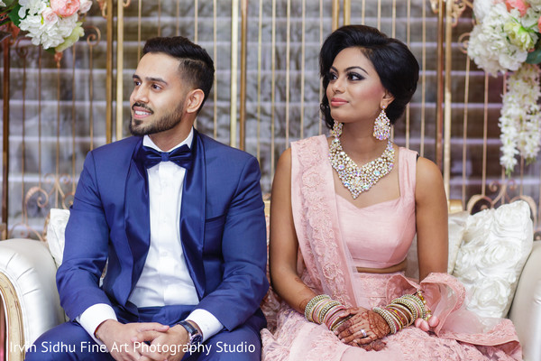 Beautiful Indian Couple at their Wedding in Brampton, ON Indian Wedding by Irvin Sidhu Fine Art Photography Studio