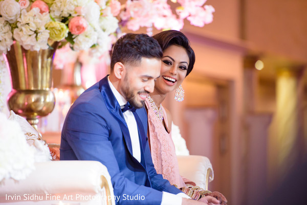 Happy Bride and Groom at their Wedding Celebration in Brampton, ON Indian Wedding by Irvin Sidhu Fine Art Photography Studio