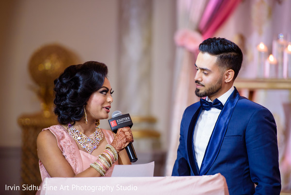 Beautiful Indian Wedding Reception in Brampton, ON Indian Wedding by Irvin Sidhu Fine Art Photography Studio