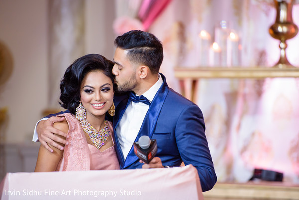Indian Bride and Groom at their Wedding Reception in Brampton, ON Indian Wedding by Irvin Sidhu Fine Art Photography Studio