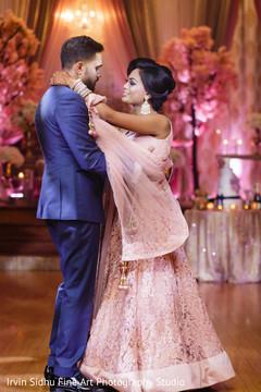 Beautiful Indian Bride Dancing With Her Groom