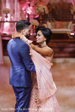 Beautiful Couple dancing at their Indian Wedding