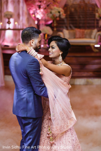 Beautiful Couple dancing at their Indian Wedding in Brampton, ON Indian Wedding by Irvin Sidhu Fine Art Photography Studio