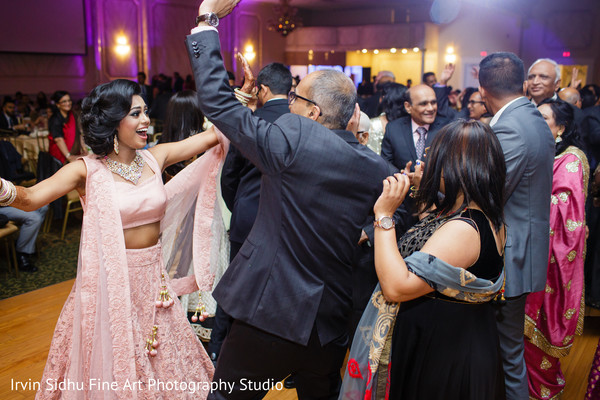 Maharani having a blast dancing in Brampton, ON Indian Wedding by Irvin Sidhu Fine Art Photography Studio