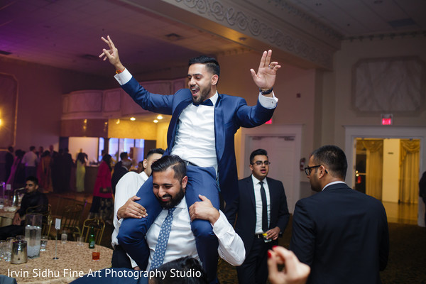 Indian groom dancing the night away in Brampton, ON Indian Wedding by Irvin Sidhu Fine Art Photography Studio