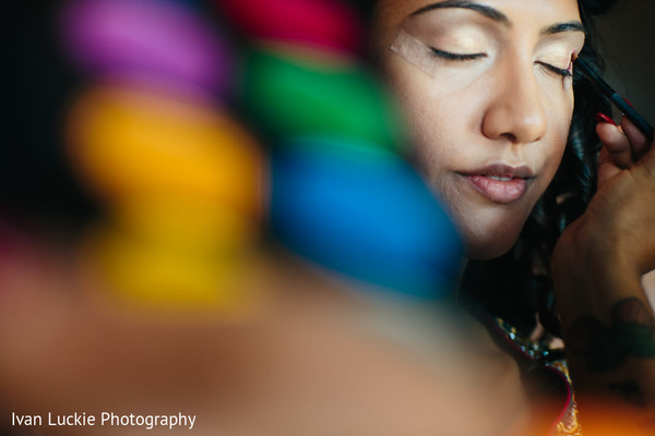 See this bride to be getting ready for her mehndi night. in Playa del Carmen Playa del Carmen Destination Indian Wedding by Ivan Luckie Photography