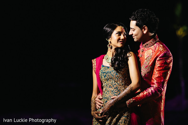 Night and outdoor perfect capture of indian bride and groom. in Playa del Carmen Playa del Carmen Destination Indian Wedding by Ivan Luckie Photography