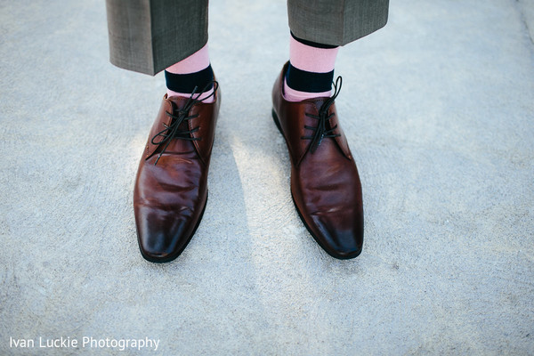 Groom's brown shoes. in Playa del Carmen Playa del Carmen Destination Indian Wedding by Ivan Luckie Photography