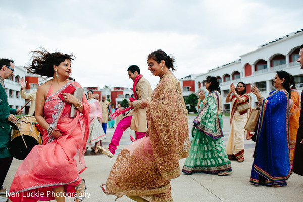 Indian celebration prior to the wedding in Playa del Carmen Playa del Carmen Destination Indian Wedding by Ivan Luckie Photography